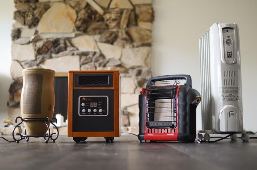 infrared heater on floor