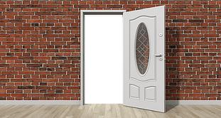 newly installed door
